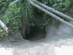 Den site entrance